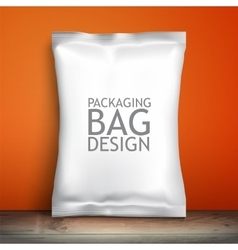 Empty packaging design chips candy cookies vector image