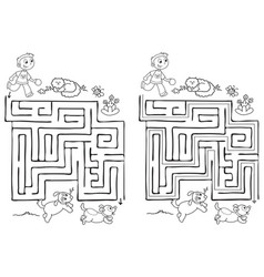 maze game for children vector image vector image