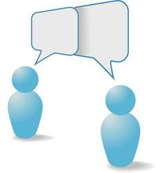 people symbols share talk communication speech bub vector image
