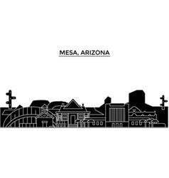 usa mesa arizona architecture city vector image