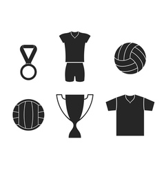 Volleyball Set vector image vector image