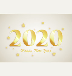 2020 happy new year banner vector image