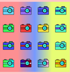 a series of multi-colored vector image