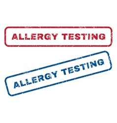 Allergy Testing Rubber Stamps vector