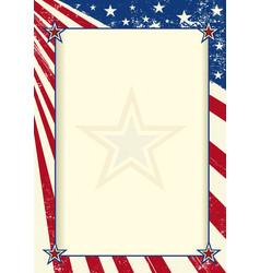 American frame poster vector