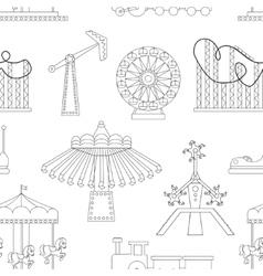 Amusement Park icons pattern vector