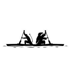 angel and demon in the same boat vector image