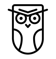 Angry owl icon outline style vector