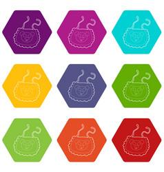 baby bib icons set 9 vector image
