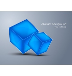 Background with blue cubes vector image