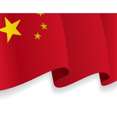 Background with waving Chinese Flag vector