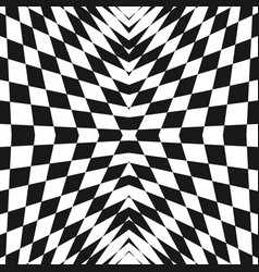 black and white geometric checkered abstract vector image
