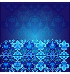 blue ottoman serial patterns nine vector image