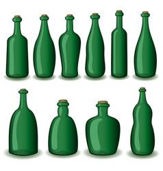 Bottles set vector
