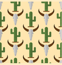 Cactus nature desert flower mexican succulent vector