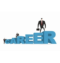 Career ladder Career motivation Achieve improve on vector