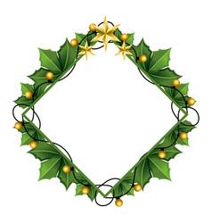 christmas decoration background cartoon vector image