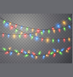 Christmas lights light bulb garland vector