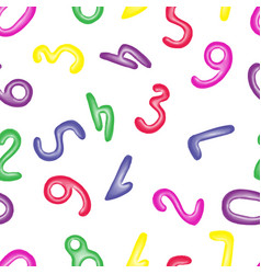 colorful numbers from modeling clay seamless vector image