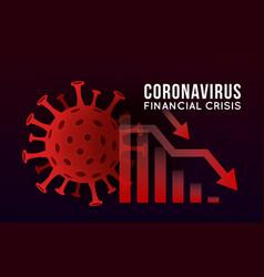 Concept impact coronavirus on stock vector