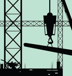 construction place art vector image