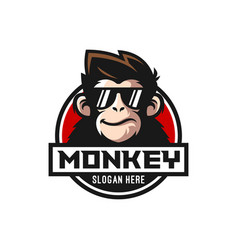cool monkey logo design vector image