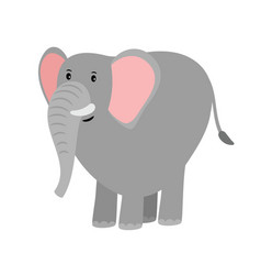 cute grey cartoon elephant vector image