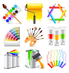 Design and art icons set vector image