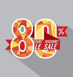 Discount 80 Percent Off vector image