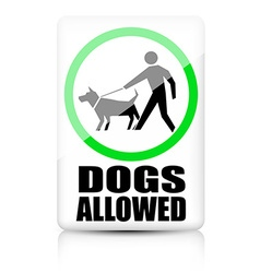 Dogs allowed sign vector image