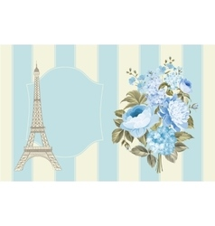 Eiffel tower post card vector