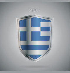 Europe flags series greece modern icon vector