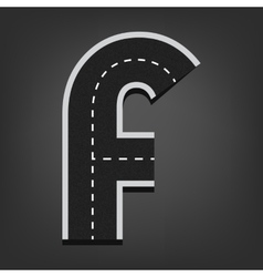 F letter Road font vector image