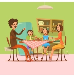 Family Having Meal vector image