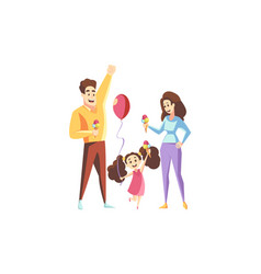 Fatherhood motherhood family holiday concept vector