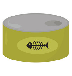 Fish can on white background vector