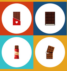 flat icon bitter set of wrapper dessert vector image