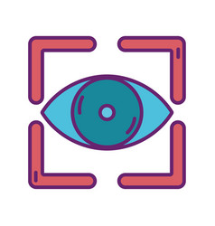 focus vision strategy digital marketing vector image
