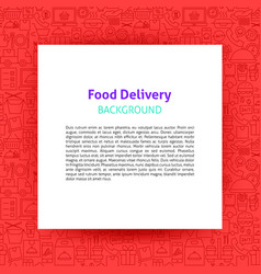 food delivery paper template vector image