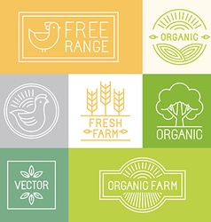 fresh farm and free range labels vector image