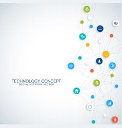 geometric graphic background communication cloud vector image