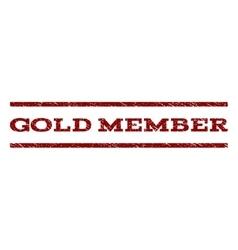 Gold Member Watermark Stamp vector