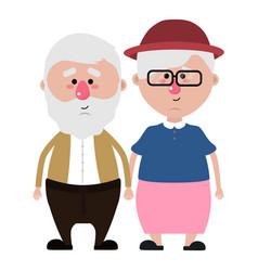 grandparents cartoon design vector image