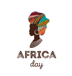 Happy africa day poster banner card vector