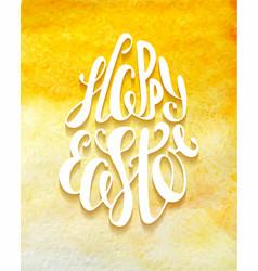 happy easter typography design elements vector image