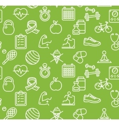 Health life fitness background vector