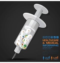 Healthcare And Medical Vitamin Pill Capsule With vector image