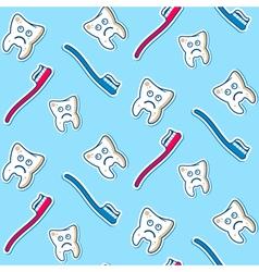 Ill teeth seamless pattern vector image