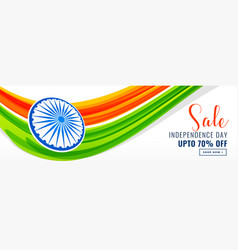 Independence day of india banner design with sale vector