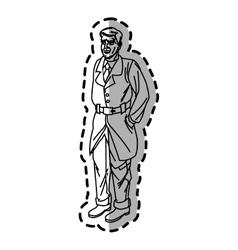 Inspector man cartoon design vector